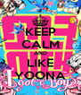 KEEP CALM AND LIKE YOONA - Personalised Poster A4 size
