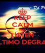 KEEP CALM AND LISTEN ÚLTIMO DEGRAU - Personalised Poster A4 size