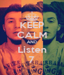 KEEP CALM AND Listen 7 - Personalised Poster A4 size