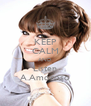 KEEP CALM AND Listen A.Amoroso - Personalised Poster A4 size