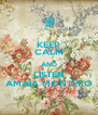 KEEP CALM AND LISTEN AMAIA MONTERO - Personalised Poster A4 size