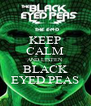 KEEP CALM AND LISTEN BLACK EYED PEAS - Personalised Poster A4 size
