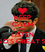 KEEP CALM AND LISTEN BRUNO'S GREAT SONG - Personalised Poster A4 size