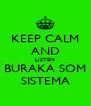 KEEP CALM AND LISTEN BURAKA SOM SISTEMA - Personalised Poster A4 size