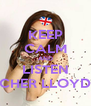 KEEP CALM AND LISTEN CHER LLOYD - Personalised Poster A4 size