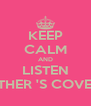 KEEP CALM AND LISTEN ESTHER 'S COVERS - Personalised Poster A4 size