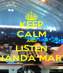 KEEP CALM AND LISTEN FERNANDA MARTINS - Personalised Poster A4 size