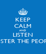KEEP CALM AND LISTEN FOSTER THE PEOPLE - Personalised Poster A4 size