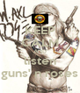 KEEP CALM AND listen guns' n roses - Personalised Poster A4 size