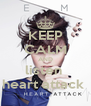 KEEP CALM AND listen  heart attack  - Personalised Poster A4 size