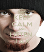 KEEP CALM AND LISTEN  J.AX - Personalised Poster A4 size