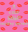 KEEP CALM AND listen  mayday parade - Personalised Poster A4 size