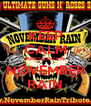 KEEP CALM AND LISTEN NOVEMBER RAIN - Personalised Poster A4 size