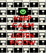 KEEP CALM AND LISTEN P/COW - Personalised Poster A4 size