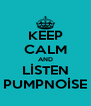 KEEP CALM AND LİSTEN PUMPNOİSE - Personalised Poster A4 size