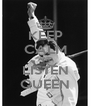 KEEP CALM AND LISTEN QUEEN - Personalised Poster A4 size