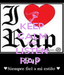 KEEP CALM AND LISTEN RAP  - Personalised Poster A4 size