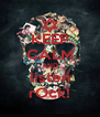 KEEP CALM AND listen rOck! - Personalised Poster A4 size