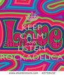KEEP CALM AND LISTEN ROCKADELICA - Personalised Poster A4 size