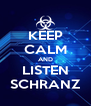 KEEP CALM AND LISTEN SCHRANZ - Personalised Poster A4 size