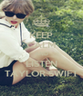 KEEP CALM AND LISTEN TAYLOR SWIFT - Personalised Poster A4 size