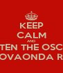 KEEP CALM AND LISTEN THE OSCAR ON NOVAONDA RADIO - Personalised Poster A4 size