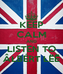 KEEP CALM AND LISTEN TO ÂŁBÉRT ŁËĒ - Personalised Poster A4 size