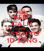 KEEP CALM AND LISTEN TO 1D SONG - Personalised Poster A4 size