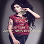 KEEP CALM AND LISTEN TO AMY WINEHOUSE - Personalised Poster A4 size