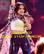 KEEP CALM AND LISTEN TO CAN'T STOP DANCIN' - Personalised Poster A4 size
