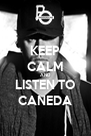 KEEP CALM AND LISTEN TO CANEDA - Personalised Poster A4 size