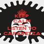 KEEP CALM AND LISTEN TO CAPAREZZA - Personalised Poster A4 size