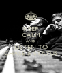 KEEP CALM AND LISTEN TO CHASE & STATUS - Personalised Poster A4 size
