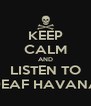 KEEP CALM AND LISTEN TO DEAF HAVANA - Personalised Poster A4 size
