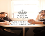 KEEP CALM AND LISTEN TO DOT HACKER - Personalised Poster A4 size