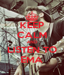 KEEP CALM AND LISTEN TO EMA - Personalised Poster A4 size