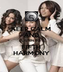 KEEP CALM AND LISTEN TO FIFTH HARMONY - Personalised Poster A4 size