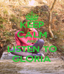 KEEP CALM AND LISTEN TO GLORIA - Personalised Poster A4 size