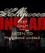 KEEP CALM AND LISTEN TO Hollywood undead - Personalised Poster A4 size