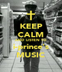 KEEP CALM AND LISTEN TO i-prince's MUSIC - Personalised Poster A4 size