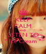 """KEEP CALM AND LISTEN TO """" Ice Cream """" - Personalised Poster A4 size"""