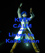 KEEP CALM AND Listen to  Kaito Shion - Personalised Poster A4 size