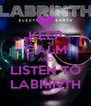 KEEP CALM AND LISTEN TO LABRINTH - Personalised Poster A4 size