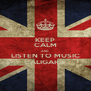 KEEP CALM AND LISTEN TO MUSIC CALIGARIS - Personalised Poster A4 size