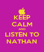 KEEP CALM AND LISTEN TO NATHAN - Personalised Poster A4 size
