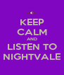 KEEP CALM AND LISTEN TO NIGHTVALE - Personalised Poster A4 size