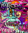 KEEP CALM AND LISTEN TO OVEREXPOSED - Personalised Poster A4 size
