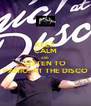 KEEP CALM AND LISTEN TO PANIC! AT THE DISCO - Personalised Poster A4 size