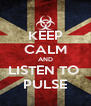 KEEP CALM AND LISTEN TO  PULSE - Personalised Poster A4 size