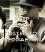 KEEP CALM AND LISTEN TO REGGAETON - Personalised Poster A4 size
